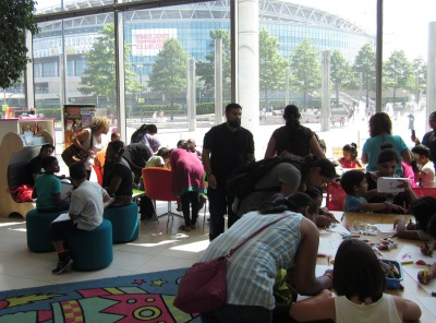 Busy Mythical Maze Event at Wembley Library.