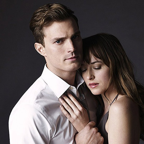 Christian and Ana in the film adaptation of Fifty Shades of Grey