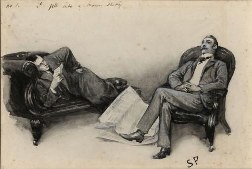 Sherlock on sofa